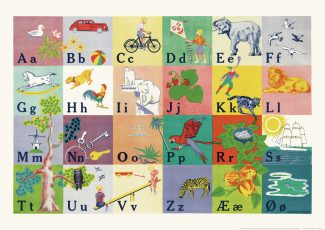 Vilhelm Bjerke-Petersens ABC-plakat